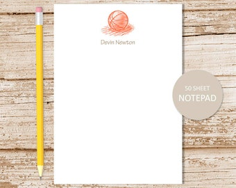 personalized notepad . basketball note pad . basketball notepad . personalized stationery . sports stationary