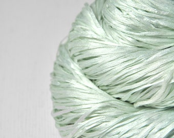 Fading scent of woodruff OOAK  - Silk Tape Lace Yarn - SUMMER EDITION
