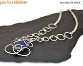 Royal Blue Necklace Lapis Necklace Wire Wrap Necklace Boho Necklace Lapis Lazuli Pendant Silver Necklace Elegant Necklace Gemstone Necklace