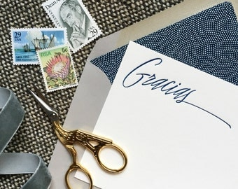 letterpress thank you note cards - GRACIAS