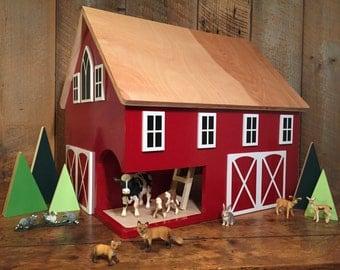 Large Kids Hardwood Toy Barn READY TO SHIP