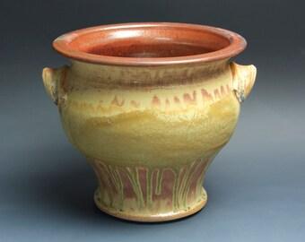 Stoneware ceramic kitchen utensil holder pottery kitchen spoon jar 3527