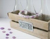 Politely Purple- lavender cream green silk flower headband