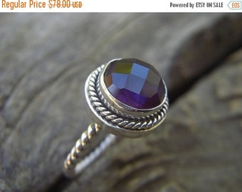 ON SALE Amethyst ring in sterling silver
