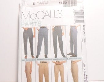 McCall's 1990's Pants Pattern, Sewing Pattern, 1990's Pattern, Pants Pattern, McCall's 9233, Plus Size