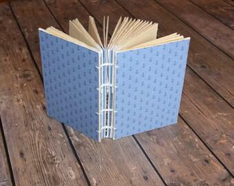 Anchors Journal, Handmade Nautical Theme Journal, Guest Book, Summer Writing Journal