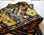 Reserved for Mary Halloween Table Runner Scrappy Bright Assortment Quilted Quiltsy Handmade FREE U.S. Shipping