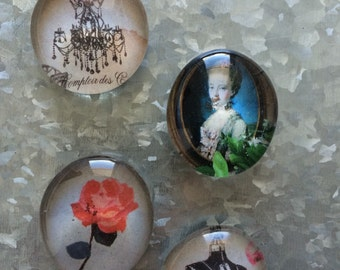 French disposition set of four Magnets