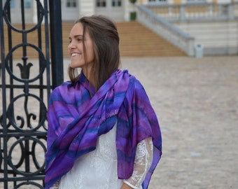 Purple large scarf , perfect gift for her