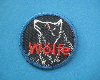 Iron-on embroidered Patch WOLF 2.25 inch