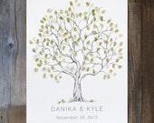 Wedding Guest Book Alternative, Fingerprint tree, Medium Olive Tree, Unique Guest Book, thumbprint tree, Rustic Wedding Guest Book