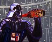 Three Floyds Brewing, Dark Lord, Indiana Beer Art, 3 Floyds, Darth Vader, Gift for Beer Geek, Bar Beer Wall Art, Star Wars, Imperial Stout