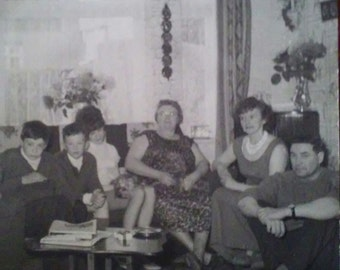 Vintage 1960s English Family Visit to Granny's House Photo