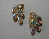 Vintage Iris Rhinestone Earrings