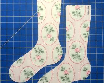 Medium Pink Flowers Sock Blockers