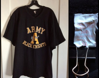 Vintage 1970's Army Black Knights football team jersey t-shirt size XL Southern Athletic 1020