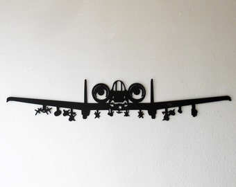 A-10 Thunderbolt II Warthog Hog Aircraft Military Metal Wall Decoration USAF
