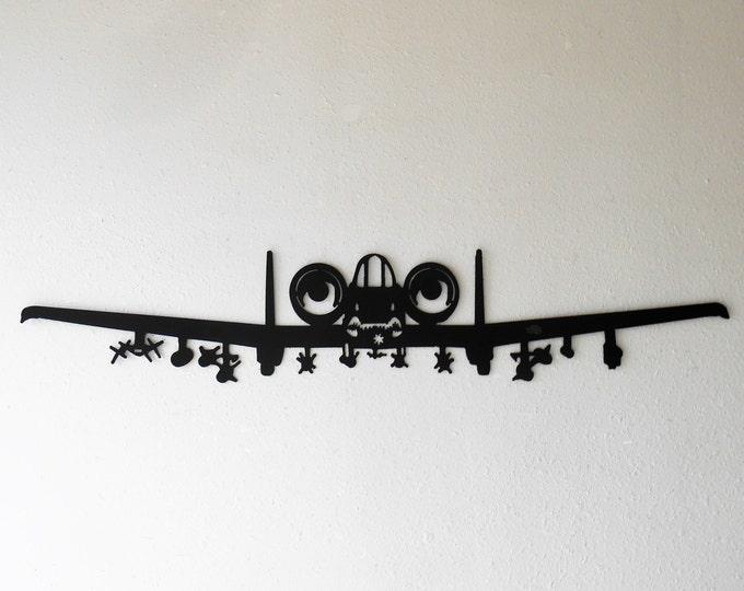 A-10 Thunderbolt II Warthog Hog Aircraft Military Metal Wall Decoration USAF