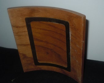 Vintage 1950s mid century curved wooden picture Frame