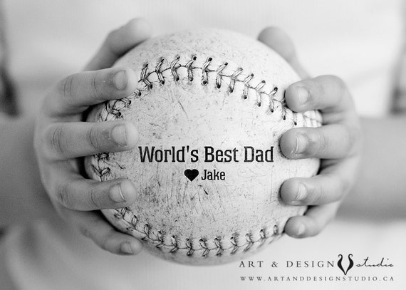 Personalized Mens Gift, Custom Father Present, Gift From Child,  Baseball Gift for Dad, Holiday Dad, Baseball Gift for Boyfriend, Sports Art