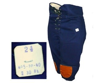 Vintage 1950's Padded Football Uniform Knickers Pants, Sportswear