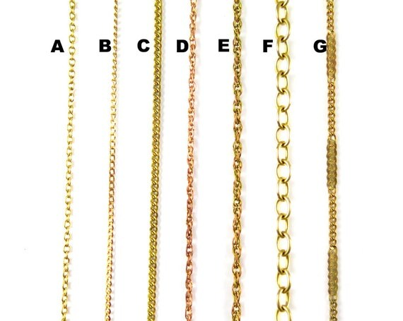 Vintage Brass Chain for Customized Necklace, Choker, Bracelet, Anklet Jewelry