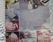 Vintage Annie's Attic Ultimate Book of Pineapples Thread Crochet Patterns Booklet Doilies Tablecloth Shawl