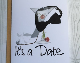 It's a Date Card, Invitation, Blank Card, Greeting Card, All Occasion Card