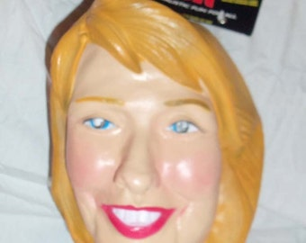 1997 Cesar Brand Vinyl 1st Lady Hillary Clinton Political Over the Head Face Mask