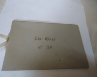 Vintage The Class of '28 Goalinga Union High School Commencement Exercises, 1928, collectable