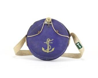 vintage nautical navy anchor canteen