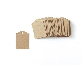 250 Mini Kraft Paper Tags Blank