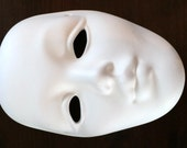 Plain Face Mask Eyes Cut Out Ready to Paint Ceramics Poured by CrazyOldLadyJC