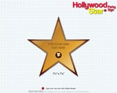 CUSTOM LISTING    Hollywood Star Party Sign   Full-Color Template   Digital File - Instant Downlad