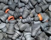 10 BLACK STOPPERS - Scottish Sea Pottery - Job Lot - Random Selection - Craft Project (10 black)