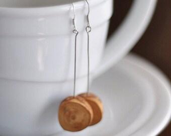 wooden earrings • birch wood earrings jewelry