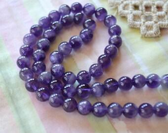 Amethyst 6-7mm Round Beads Cgrade Gemstone Bead 16 Inch Strand