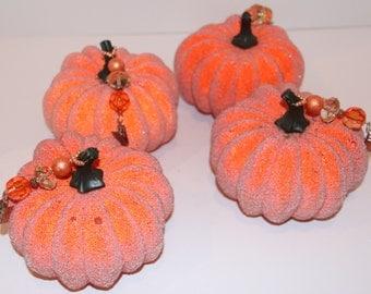 Pumpkin Thanksgiving Tablecloth Weights Set of 4