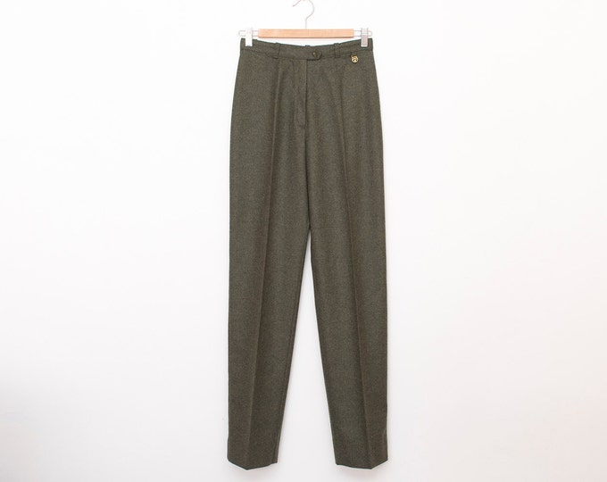 NOS Vintage 80's green pants trousers  size S