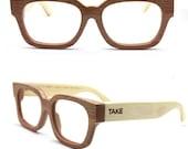 Takemoto Mjx1304 Handmade Bamboo Eyeglasses prescription Glasses prescripiton RX Eyewear