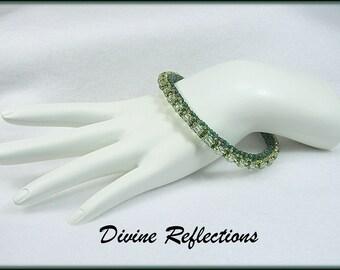 Green Bead Bangle Bracelet, Green Bracelet, Bangle Bracelet, Bead Bangle
