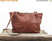 25% Off Sale Tan Shopper Tote  Leather Shoulder Bag