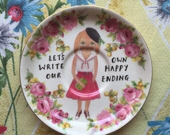 Sophie Bunny Happy Ending Vintage Illustrated Plate