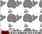 Whale Decals - Set of 50 - 2 Inches Wide Each - Envelope Labels - Cup Decals - Party Favors - Balloon Decorations - Vinyl Decals