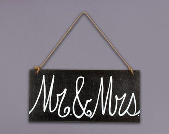 6x13 Mr. & Mrs. wooden wall Plaque