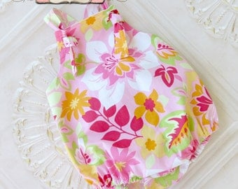 Baby Girl Sunsuit, Baby Girl Romper, Ruffle Romper, Toddler Girl, Easter Romper, Easter Outfit