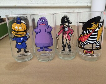 Ronald McDonald Collector Series Glasses set of 4