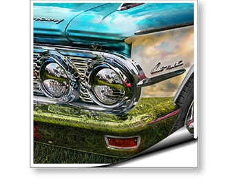 Wall Mural Art Decal Comet Classic Vintage Car