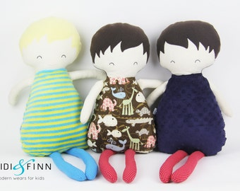 NEW Pillow dolls BOYS keepsake gift OOAK ready to ship