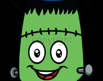 Womans TANK TOP Shirt Emoji Frankenstein  Choose Size and Color 18511